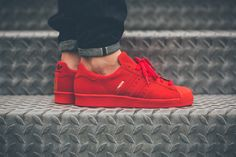 adidas superstar all red - Google Search