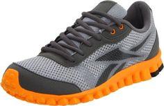 Reebok Realflex Optimal Running Shoe (Little Kid/Big Kid),Rivet Grey/Flat Grey/Maximum Orange/Black,3.5 M US Big Kid $61.18