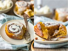 Pumpkin Cinnamon Rolls from Scratch