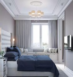 Warm Bedroom Ideas 7786141609 Simply imaginative arrangements for a pleasant cozy bedroom decorating ideas inspiration Fab Bedroom decor pinned on this super day 20181225 Blue Gray Bedroom, Blue Bedroom Decor, Warm Bedroom, Home Bedroom, Modern Bedroom, Bedroom Ideas, Bed Design, Home Design, Interior Design