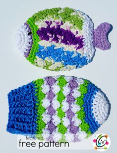 Free Crochet Fish Potholder Pattern : Crocheted Dishcloths and Potholders on Pinterest ...