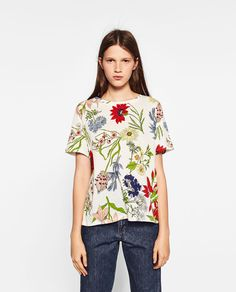 PRINTED TOP-Short Sleeve-T-SHIRTS-WOMAN | ZARA United States