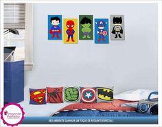 Lindo Kit Decorativo Heróis Baby 10 pcs
