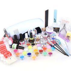 Full Gel Nail & Nail Art Kit form missliplash.net Nail Kits, Gel Nail Kit, Nail Art Kit, Nail Nail, Nail Tech, Gel Nails, Lamps, Gel Nail, Lightbulbs