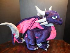 Cynder Plush by GameGuardians on Etsy. Laura this one is adorable!