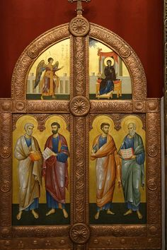 Church Interior, Byzantine Icons, Religious Images, Orthodox Icons, Christian Art, Medieval, Saints, Painting, Projects