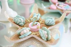 Sweets from a Mermaid Oasis Themed Birthday Party via Kara's Party Ideas…