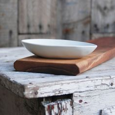 Olive Bowl and Baguette Board