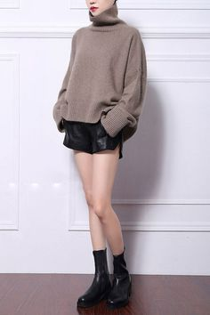 New genuine mink cashmere sweater women pure cashmere pullovers turtleneck sweater brand style