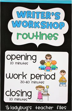 printable for writers workshop and reader's workshop