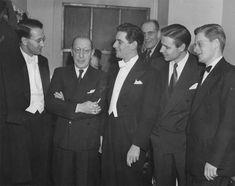 Werner Lywen, Igor Stravinski, Leonard Bernstein and Robert Shaw by Ben Greens, 1945