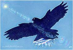 Spirit animals - Hawk - surreal art- Nicola McLean