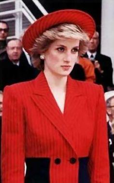 Princess Diana performing her royal duty........