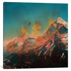 iCanvas Mountain Splash by Andreas Lie Canvas Print