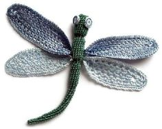 Beautiful charted dragonfly crochet pattern #insect #diy #crafts #crocheting