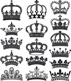crown and coronet silhouettes Pixerstick Sticker - Art and Creation Queen Bee Tattoo, Queen Crown Tattoo, Diamond Crown Tattoo, Crown Hand Tattoo, Simple Crown Tattoo, Crown Tattoo Design, Finger Tattoos, Body Art Tattoos, Tatoos
