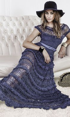 Alzira Vieira hairpin lace crochet dress