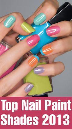 Top Nail Paint Shades 2013
