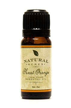 Sweet Orange Essential Oil - 100% Pure Therapeutic Grade Sweet Orange Oil by Natural Acres - 10ml: At Natural Acres we strive to provide our customers with all natural essential oils that are only ma...