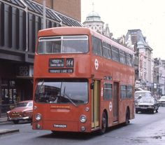 """Approaching Turnpike Lane Station , on Route 144 . The use of a """" lazy """" blind is interesting . London Bus, Old London, Enfield Middlesex, Enfield Town, Bus Route, High Road, Bus Coach, Road Rage, London Transport"""