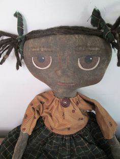 Primitive Black Doll by Bettesbabies on Etsy, $38.00