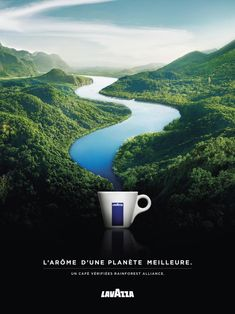 Lavazza Print Advert By Armando Testa: The aroma of a better planet Ads Creative, Creative Posters, Creative Advertising, Advertising Design, Creative Business, Best Advertising Campaigns, Advertising Agency, Ad Of The World, Coffee Poster