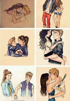 Cute Justin bieber and maybe Selena Gomez drawing!! So adorable!♥  #justinbieber