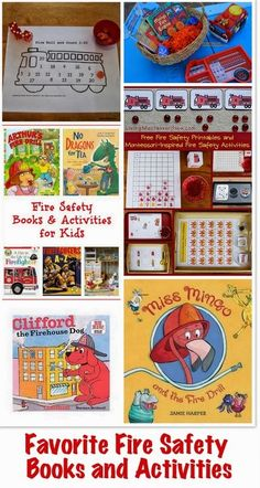The Good Long Road: Fire Prevention Week: Fire Safety Tips + Our Favorite Books and Activities for Fire Prevention Week.links to videos Preschool Books, Preschool Lessons, Preschool Activities, Activities For Kids, Reading Activities, Fire Safety Tips, Fire Safety Week, Fire Prevention Month, Dc Fire