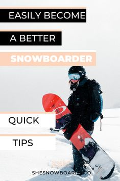 Do you feel like your snowboarding has plateaued? Use these tips for how to easily become a better snowboarder and bust out of that snowboarding rut. Snowboarding Tips For Beginners, Snowboarding Women, Snowboarding Outfit, Fun Winter Activities, Outdoor Activities, Summer Vacation Spots, Ski Season, Winter Hiking, Trends