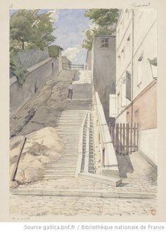 Le plus beau quartier de Paris, Montmartre - Montmartre, the most beautiful area in Paris. (Montmartre, Clignancourt  Auguste Louis Marie Ottin, 1883)