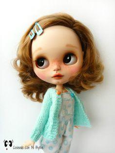 "RESERVED TO GEMA- Custom Blythe doll ""Aurora"""