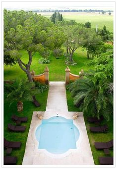 quatrefoil pool