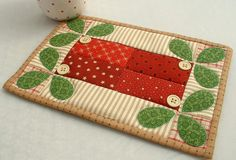 Mistletoe Mug Rug | Flickr - Photo Sharing!