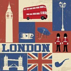 Londres Vintage Banque D'Images, Photos, Illustrations Libre De Droits
