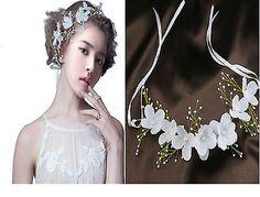 Bridal Hair vine.Flower girl headband bridesmaid Flower garland Bridal headpiece