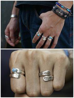 925 Silver Ring Couple Promise Ring Personalized Engraving Ring Matching Women Ring Men Native American Ring Indian Tribal Ring Kokopelli