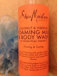 The Scent of the Tropics: #SheaMoisture #Coconut and #Hibiscus Foaming Milk  Body Wash.