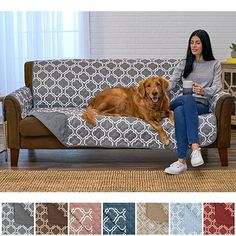 Household Products Yellow Vine Flower Print Anti-slip Quilted Sofa Couch Cover Chair Pet Dog Kids Mat Furniture Protector Home
