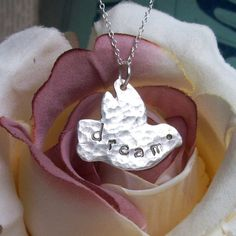 Silver Bird Necklace Dove Silver Necklace PMC by ArtisanSilver, $44.00