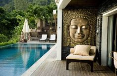 poolside oriental style