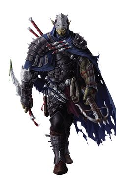 m Half Orc Rogue Assassin Studded Leather Cape Mask Short Sword Daggers Crossbow Swords Throwing Knives midlvl