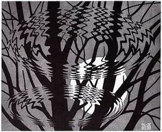 Escher (poster) Escher Tessellations, Mc Escher, Toddler Art, Life Inspiration, Optical Illusions, Art Gallery, Black And White, Creative, Artist