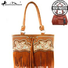 MW342G-8317 Montana West Fringe Collection Concealed Handgun Collection Tote-Brown  #western #momtanawest #west #handbaloverusa #rustic #rusty #country #purse #countrygirl #cattle #american #cowgirl #texas #texan #USA #cowgirl #cattle #countryside #countrylife #gun #guncarry #aztec