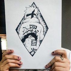 Minato and Naruto 💛 Jiraiya Y Naruto, Naruto Art, Naruto Shippuden, Anime Naruto, Boruto, Manga Tattoo, Naruto Tattoo, Anime Tattoos, Alphabet Symbols