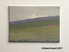 Border Land 5x7 oil on canvas. A portion of the Black Mountains marks the border between England and Wales.
