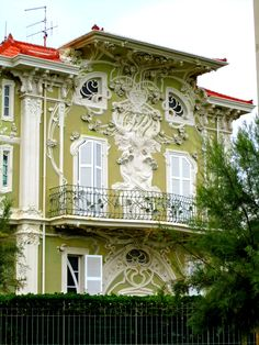 Villino Ruggeri, Pesaro, Italy. Built between 1904 and 1908 by architect Giuseppe Brega. The Italians call this style Stile Liberty (after the English store Liberty of London), their name for Art Nouveau.