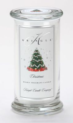 Christmas Large Apothecary Jar Kringle Candle $22.46
