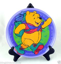 """Winnie the Pooh Child's Plate 8"""" ... FREE SHIPPING - BlingBlinky.com"""