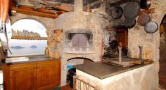 rustic spring kitchen with wood stove - Yahoo Image Search Results