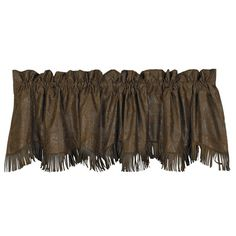 "Fringed Faux Tooled #Leather #Western #Valance 84"" x 18"" #DelectablyYours #WesternDecor"